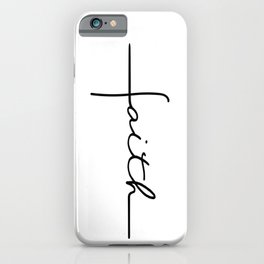 Faith Cross iPhone Case