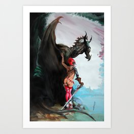 Dragon and the George Art Print