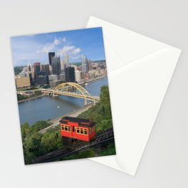 Duquesne Incline Overlooking Pittsburgh, PA Stationery Cards
