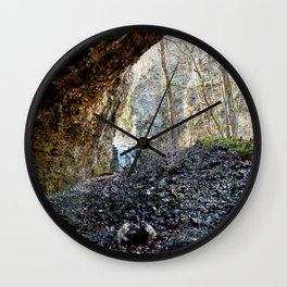 Alone in Secret Hollow with the Caves, Cascades, Critters, No. 14 of 21 Wall Clock