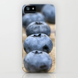 Blue ripe blueberries iPhone Case