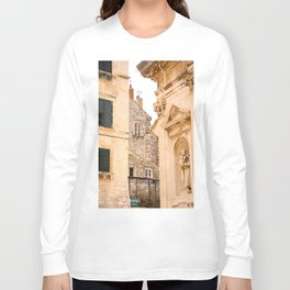 Terrace in Old Town Europe #decor #society6 Long Sleeve T-shirt