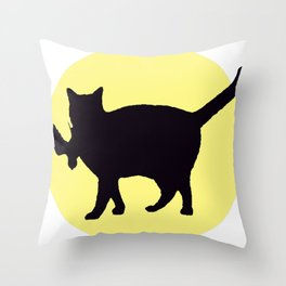 Cat Catch Throw Pillow
