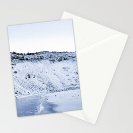 Kerid Crater In Winter, Iceland Stationery Cards