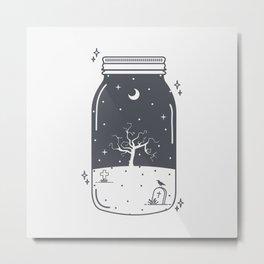 Halloween in a jar Metal Print