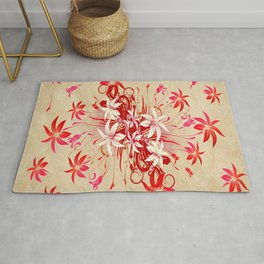 Explosion of Lily Blossoms Rug