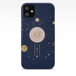 Magical Ilustration with two Moons iPhone Case