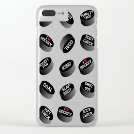 I LOVE HOCKEY!!! Clear iPhone Case