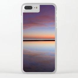 Purple sunset at the beach. Tarifa beach Clear iPhone Case