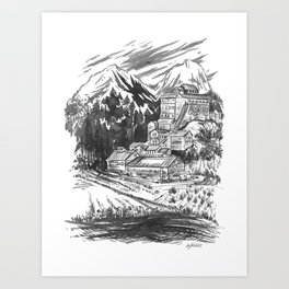 River Copper Mine Art Print