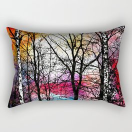 Tree Alley Colors Rectangular Pillow
