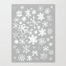 Snowflake Concrete Canvas Print