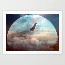 The bright side of the Moon Art Print