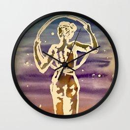 Starry hoop Wall Clock