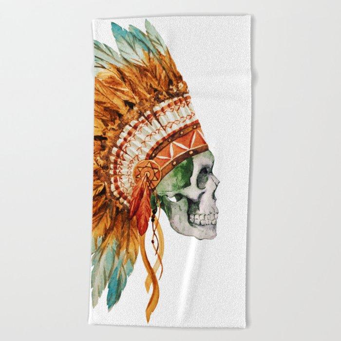 Skull 03 Beach Towel