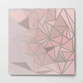 Rose Gold Metal Print