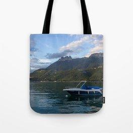 Boat Lake Annecy Tote Bag