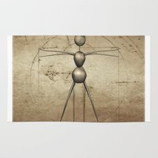 Vitruvian AntWoman Rug