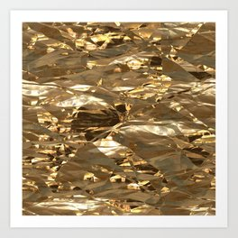 Gold Metal Kunstdrucke