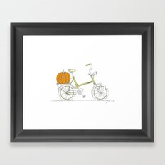 Bicycle with Pumpkin Framed Art Print