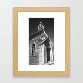 Gold Mining Camp Church Framed Art Print