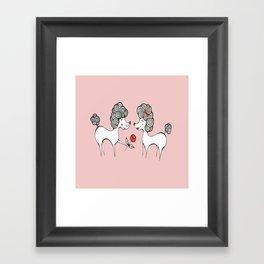 Poodle Love Framed Art Print