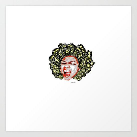 Butterfly Head Art Print