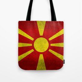 Flag of Macedonia in Super Grunge Tote Bag