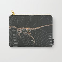 Velociraptor Mongoliensis Skeletal Study Carry-All Pouch