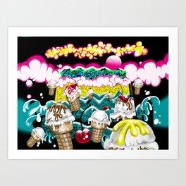 Ice Cream Dream3 Art Print