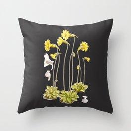 Pinguicula lutea botanical illustration Throw Pillow