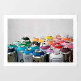 Cool cans Art Print