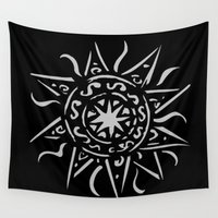 celtic Wall Tapestries featuring Celtic sun by Mi Nu Ra