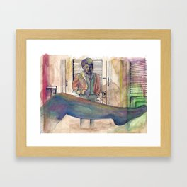 The Graduate - coffee & ink Framed Art Print