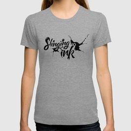 slinging ink - black T-shirt