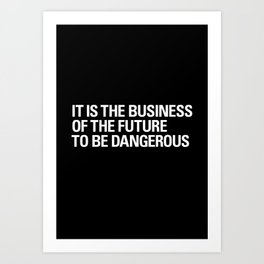 FUTURE BUSINESS Art Print