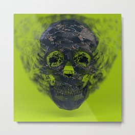 Skull Explotion Metal Print
