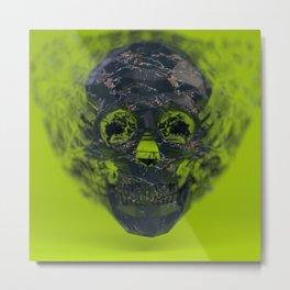 Skull Explotion Metal Print