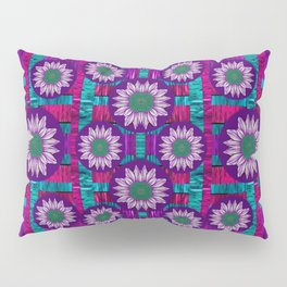 Rain Bow fantasy flowers in wonderful jungle colors of calm Pillow Sham