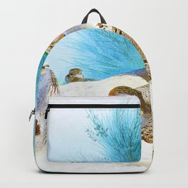 English partridge with gorse and thistles - Digital Remastered Edition Backpack