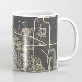 Denver map yellow Coffee Mug