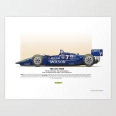 #7 LOLA - 1993 - T9300 - Sullivan Art Print