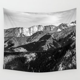 Black and White Mountains Wall Tapestry