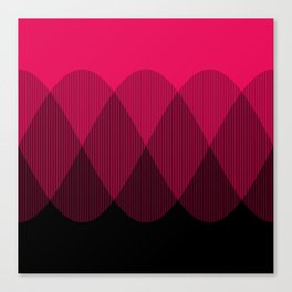 Bright red to Black Ombre Signal Canvas Print
