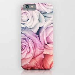 Some people grumble II  Floral rose flowers pink and multicolor flower garden iPhone Case
