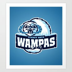 Planet Hoth Wampas - Blue Art Print
