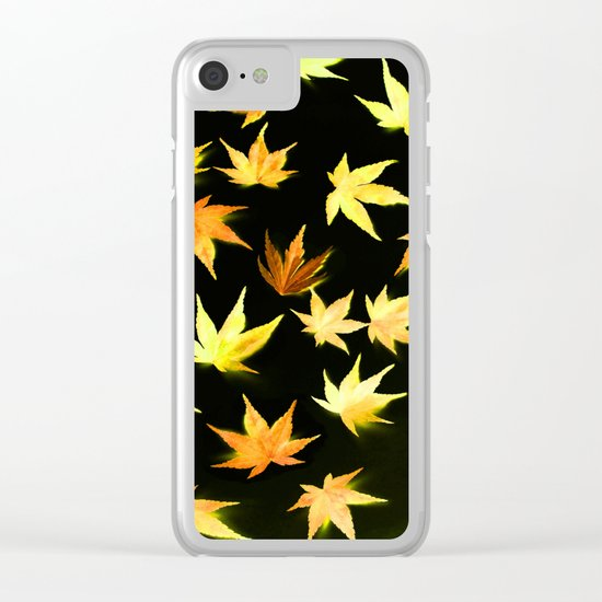 AUTUMN ROMANCE - LEAVES PATTERN #4 #decor #art #society6 Clear iPhone Case