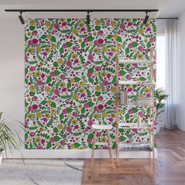 Cute Chintz Floral Pattern Wall Mural