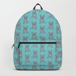 Come Pet The Cute Blue French Bulldog Puppy Digital Art Backpack