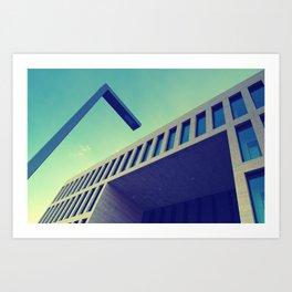 Neo Cubist Architecture Art Print